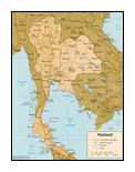 small map of Thailamd